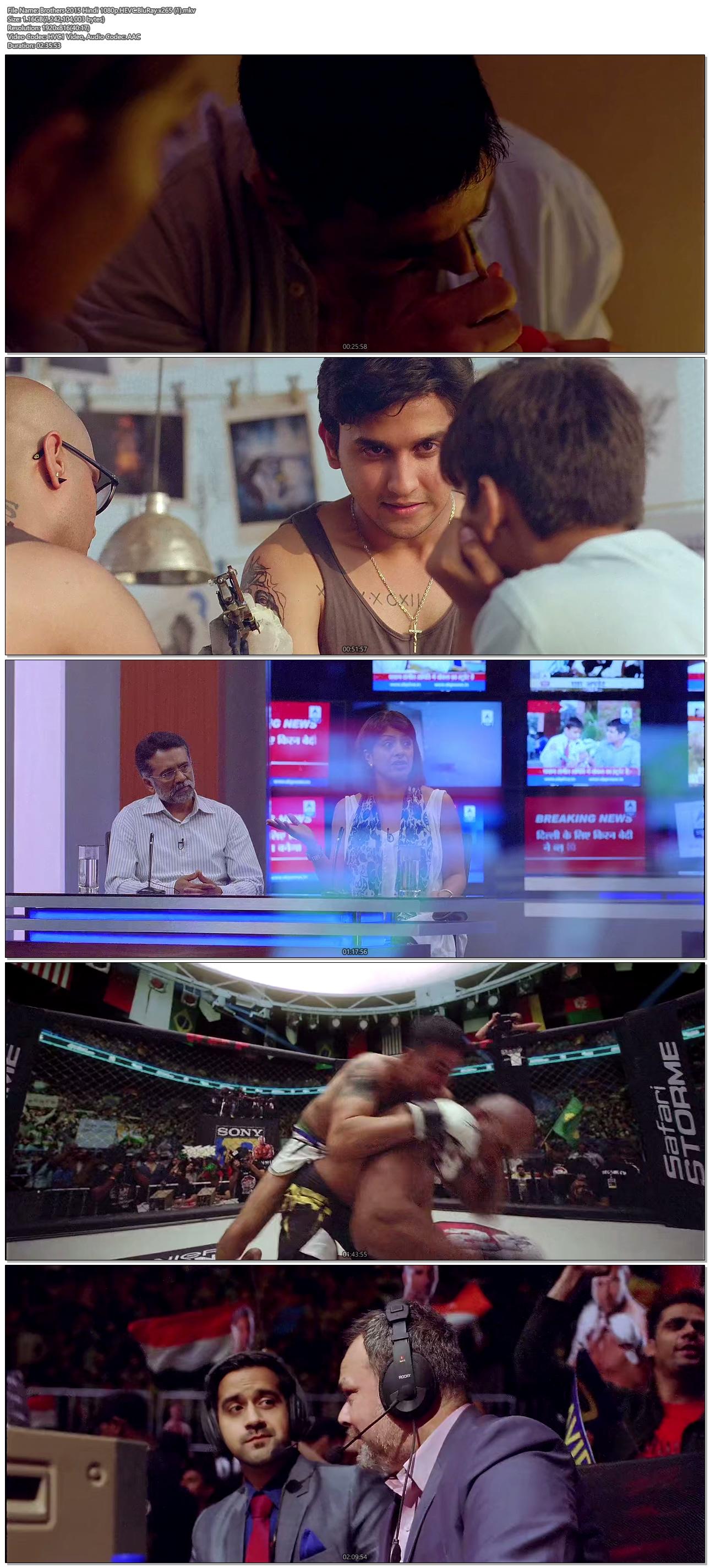 Brothers (2015) Hindi 1080p HEVC BluRay x265 1.2GB ...