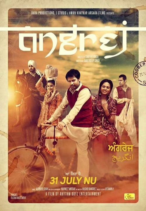 Angrej (2015) Hindi 720p HEVC DvDrip X265 640MB