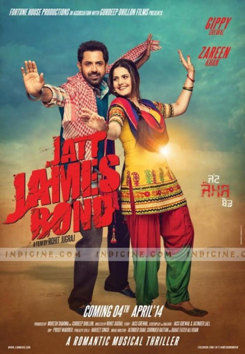 Jatt James Bond (2016) Punjabi 720p HEVC WEB DL x265 570MB