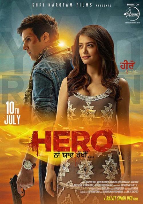 Hero Naam Yaad Rakhi (2015) Punjabi 720p HEVC WEB DL x265 400MB