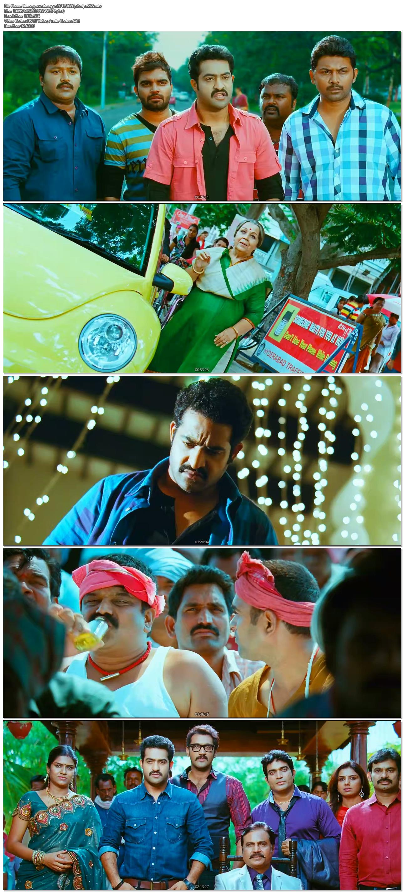Ramayya vastavayya (2013) Telugu 1080p HEVC BluRay x265 ...