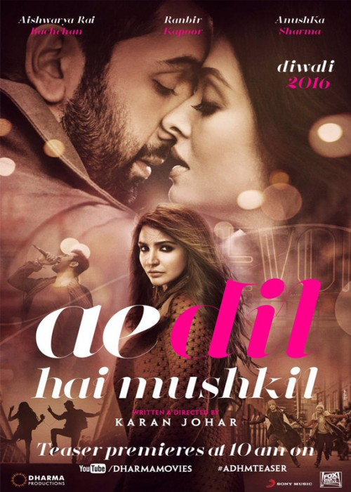 Ae Dil Hai Mushkil (2016) Hindi 720p HEVC DvDRip x265 760MB