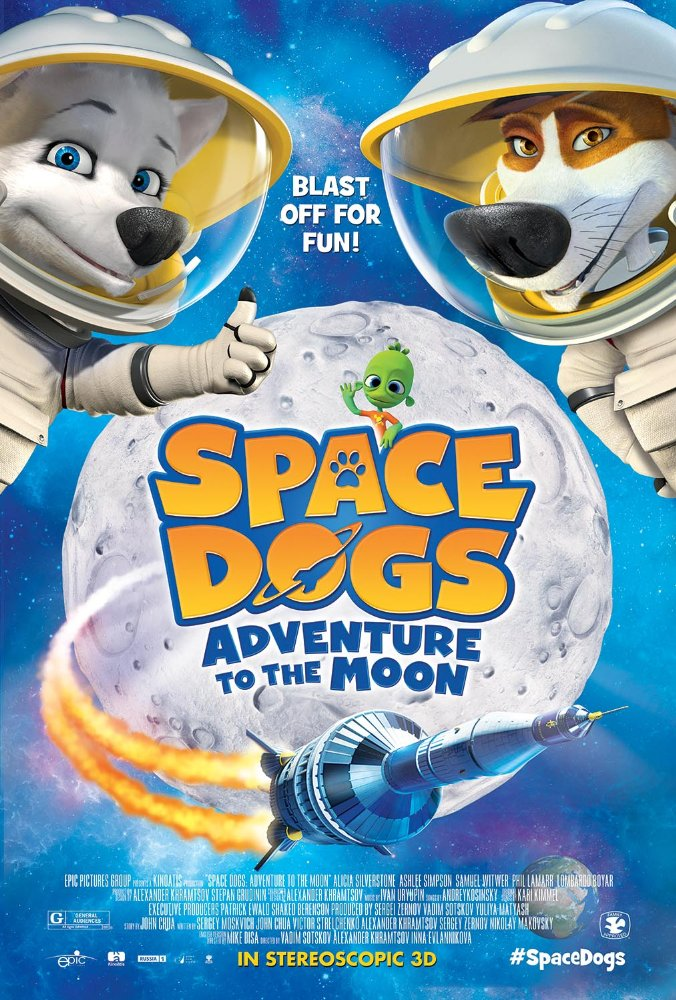 Space Dogs Adventure to the Moon (2016) 720p BluRay x264 554 MB
