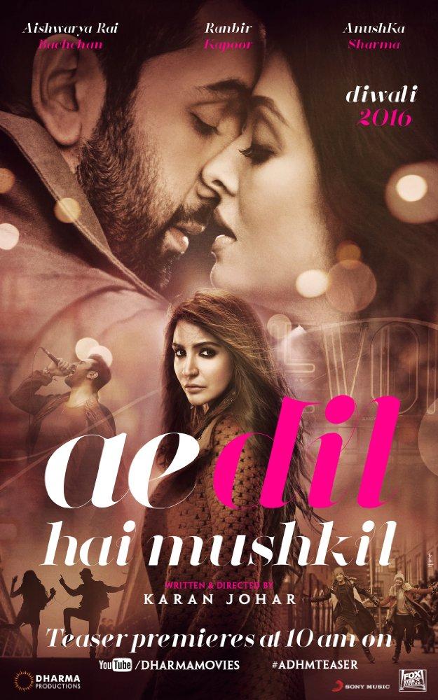 Ae Dil Hai Mushkil (2016) Hindi 720p Blu-ray X264 765 MB