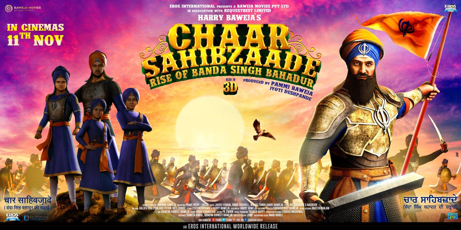 Chaar Sahibzaade 2: Rise of Banda Singh Bahadur (2016) Hindi 720p HDRip x264 655 MB