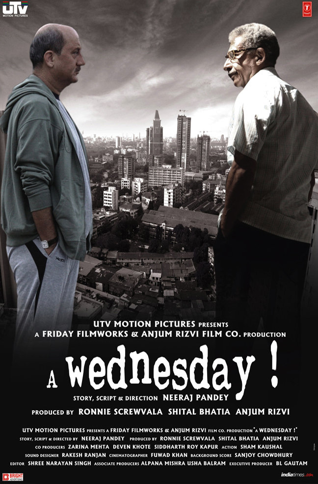 A Wednesday (2008) Hindi 720p HEVC BluRay x265 500MB